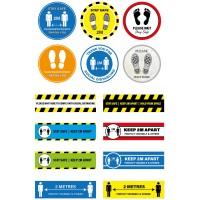 Floor Marking Stickers/Signs
