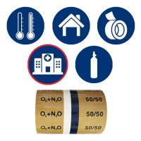 Hospital / Medical Gases Pipe ID Tape