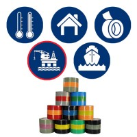 Marine Pipe ID Tapes - ISO 14726 - Yacht, Ship & Boat Pipeline Identification Tapes