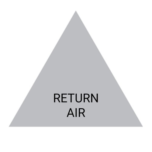 RETURN AIR (Grey) - Ductwork Identification (ID) Triangles