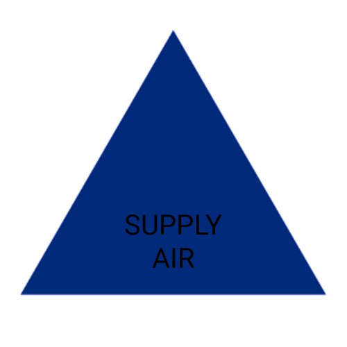 SUPPLY AIR (Blue) - Ductwork Identification (ID) Triangles