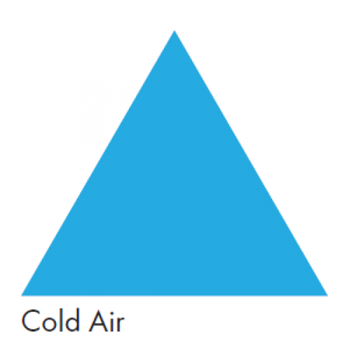 Blue representing Cold Air - Ductwork Identification (ID) Triangles