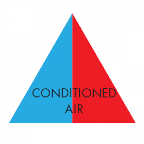CONDITIONED AIR (Blue and Red) - Ductwork Identification (ID) Triangles