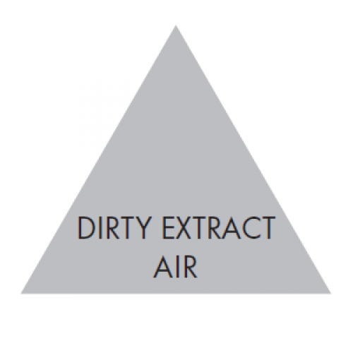 DIRTY EXTRACT AIR (Grey) - Ductwork Identification (ID) Triangles