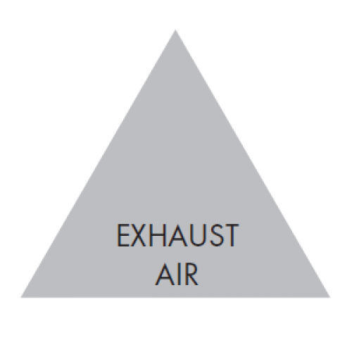 EXHAUST AIR (Grey) - Ductwork Identification (ID) Triangles