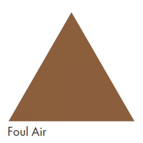 Foul Air (Brown) - Ductwork Identification (ID) Triangles