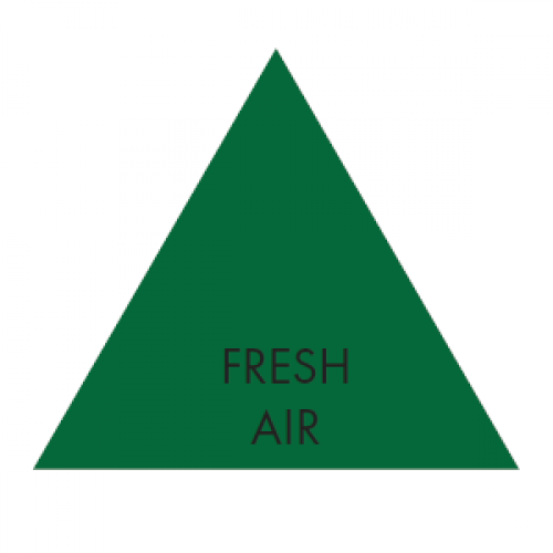 FRESH AIR (Green) - Ductwork Identification (ID) Triangles