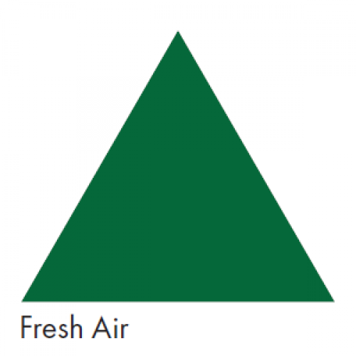 Green Representing Fresh Air - Ductwork Identification (ID) Triangles