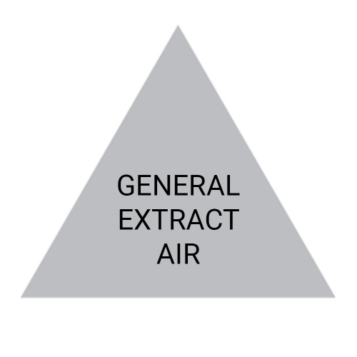 GENERAL EXTRACT AIR (Grey) - Ductwork Identification (ID) Triangles