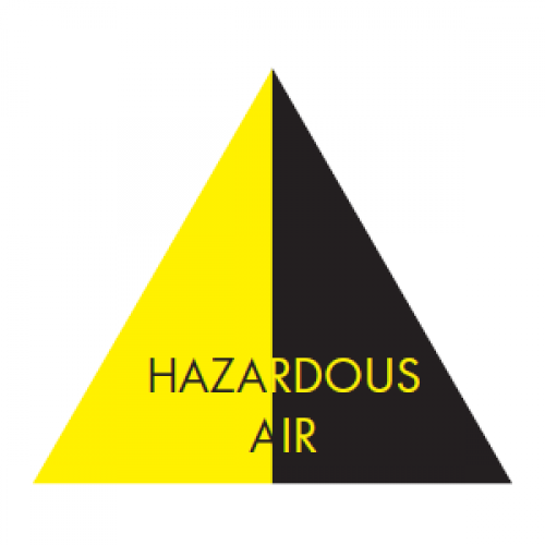HAZARDOUS AIR (Black and Yellow) - Ductwork Identification (ID) Triangles