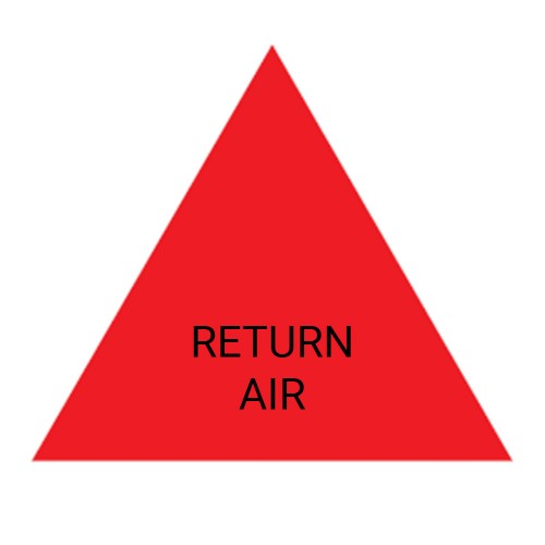 RETURN AIR (Red) - Ductwork Identification (ID) Triangles