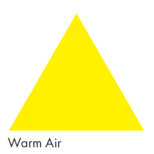 Yellow representing Yellow Air - Ductwork Identification (ID) Triangles