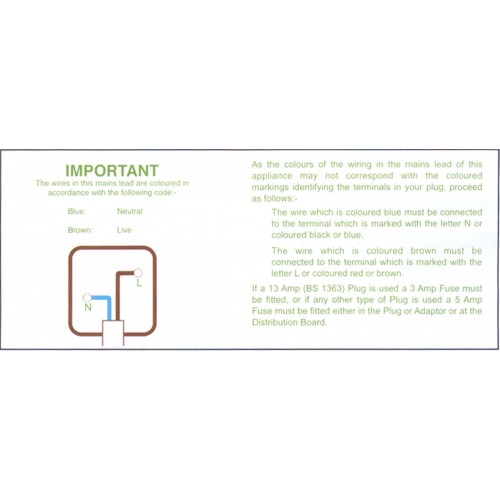 B1 - Plug Code Wiring Tape / ID Labels