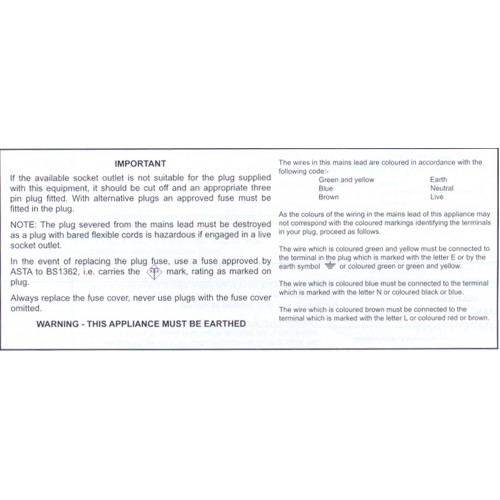 IWC11 - Plug Code Wiring Tape / ID Labels