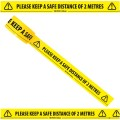 "Please Keep a Safe Distance of 2 Metres - Social Distancing Floor Marking/Signage Tape (2"" / 48mm x 33m)"