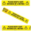 "Please Keep a Safe Distance of 2 Metres - Social Distancing Floor Marking/Signage Tape (4"" / 96mm x 33m)"
