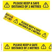 Coronavirus / COVID 19 Social Distancing Floor Marking / Hazard Tape
