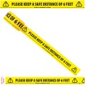 "Please Keep a Safe Distance of 6 Feet - Social Distancing Floor Marking/Signage Tape (2"" / 48mm x 33m)"