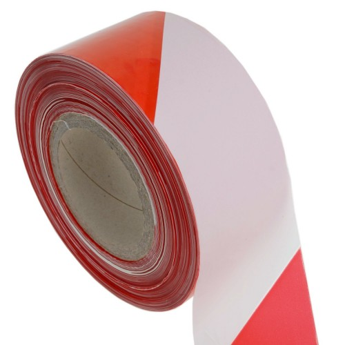 Red/White Polythene Barrier Tape