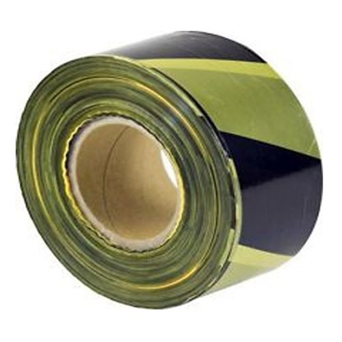 Yellow/Black Polythene Barrier Tape