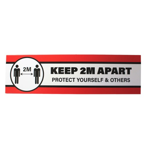 """Keep 2 Metres Apart Protect Yourself and Others - Premium Social Distancing Floor Marking Signs/Stickers (14"""" x 4"""" / 350mm x 100mm)"""