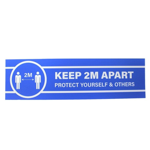 "Keep 2 Metres Apart Protect Yourself and Others - Premium Social Distancing Floor Marking Signs/Stickers (14"" x 4"" / 350mm x 100mm)"