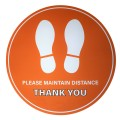 "Please Maintain Distance Thank You - Premium Social Distancing Floor Marking Signs/Stickers (12"" / 300mm)"