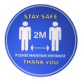 "Stay Safe 2M Please Maintain Distance Thank You - Premium Social Distancing Floor Marking Signs/Stickers (12"" / 300mm)"