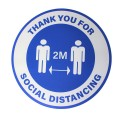 "Thank You For Social Distancing 2M - Premium Social Distancing Floor Marking Signs/Stickers (12"" / 300mm)"