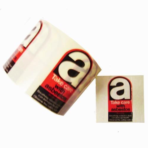 a - Take Care With Asbestos Hazard Labels - Premium Hazard Labels