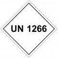 UN1266 (Obsolete) - Hazard Labels (Contact to order)
