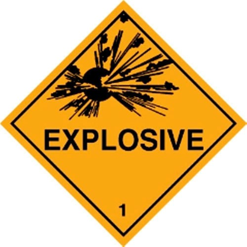 1 EXPLOSIVE - Hazard Labels