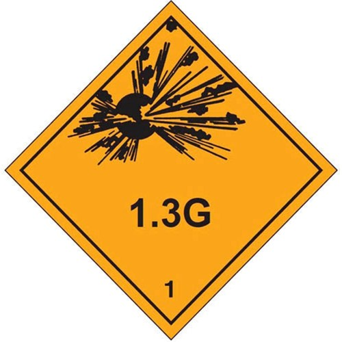 1 1.3G - Hazard Labels