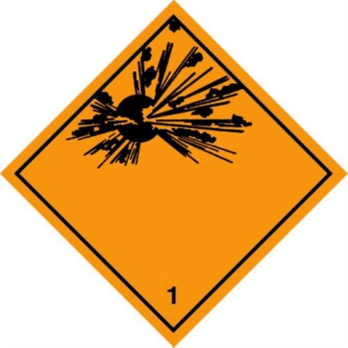 1 (Explosive) - Hazard Labels