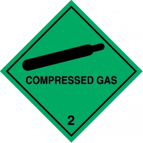 2 COMPRESSED GAS - Hazard Labels