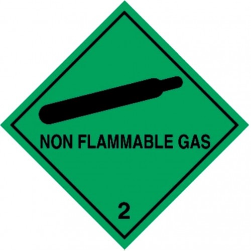 2 NON FLAMMABLE GAS - Hazard Labels