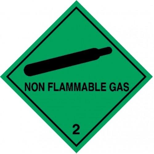2 NON FLAMMABLE GAS - Hazard Labels