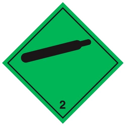 2 (Gas) - Hazard Labels