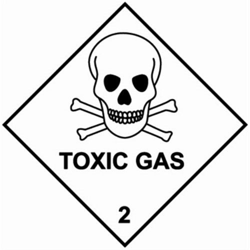 2 TOXIC GAS - Hazard Labels