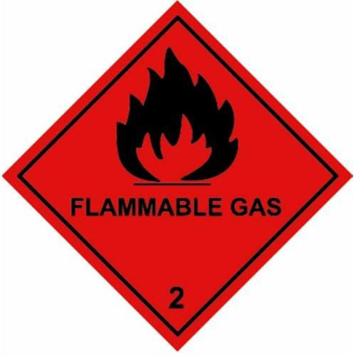 2 FLAMMABLE GAS - Hazard Labels