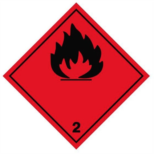 2 (Flammable) - Hazard Labels
