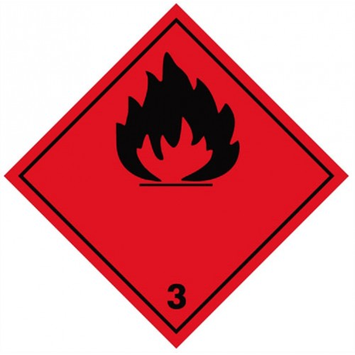 3 (Flammable) - Hazard Labels