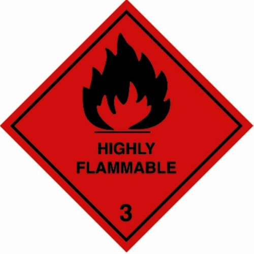 3 HIGHLY FLAMMABLE - Hazard Labels