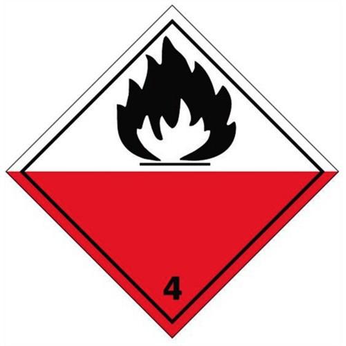 4 (Flammable) - Hazard Labels