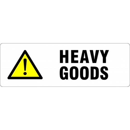 Self Adhesive Caution Heavy Package Printed Parcel Labels Postage Stickers