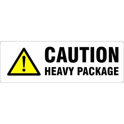 CAUTION HEAVY PACKAGE - Parcel Labels