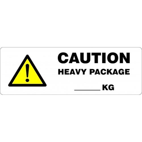 CAUTION HEAVY PACKAGE __KG - Parcel Labels