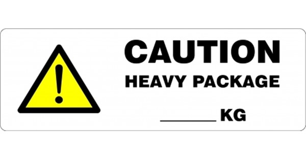 caution heavy package   kg