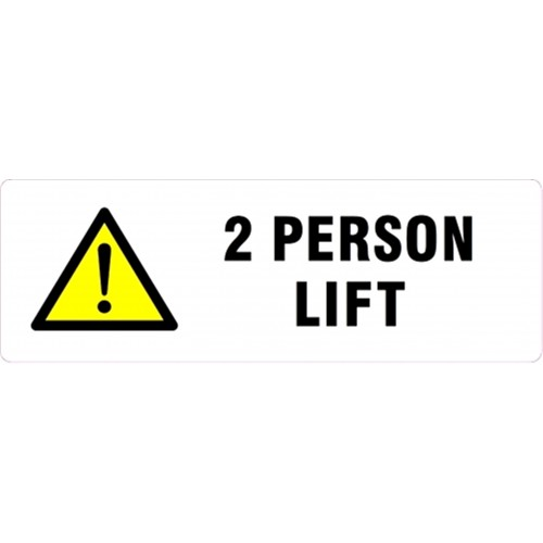 2 PERSON LIFT - Parcel Labels