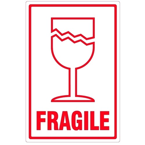 FRAGILE with symbol (Large)